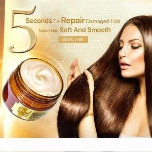 PURC 60ml Tratamento Capilar Magic 5 Segundos Reparação Rápida restauração macia queratina cabelo Profunda Nutritivo para a seco e 6pcs cabelos danificados