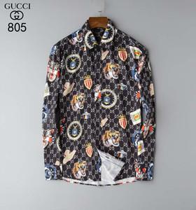 Chemise à carreaux hommes 2020 nouveau printemps et à l'automne manches longues mince tendance coréenne Tendance chemise décontractée quotidienne beau mode # 18
