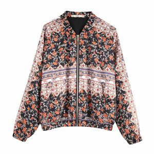 Z2019 Europe And America Spring New Style WOMEN'S Dress Floral Print Flight Jacket 8073 039 8073039