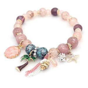 браслет роскошные дизайнерские украшения женские браслеты натуральный камень бисер очарование морские сериалы браслет ледяной браслет NE983-1