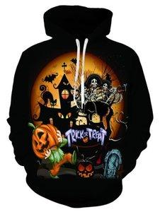 Hoodies Printemps Automne Hommes Femmes Designer Halloween Sweatshirts Pullovers Trick Bonbon à la citrouille