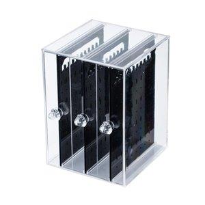 Хранение акриловые 3-х слоев прозрачный дисплей ювелирных изделий полка howing полка серьги стенд 130 * 130*180мм июнь 13 горячая распродажа