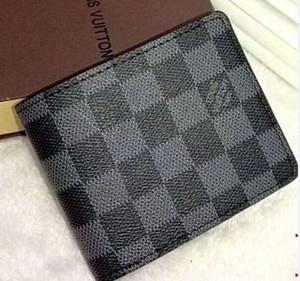 Presentes carteira carteira de Moda de Nova Preto Carta Folding Purse curto clássico para homens Mulheres Designers sup Preto Carteiras Bolsas
