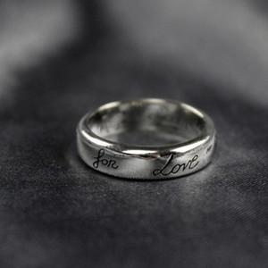 사랑 레트로 GG 반지 여성 남성 순수 925 스털링 실버 커플 반지 약혼 결혼 빈티지 반지 비쥬 선물 블라인드
