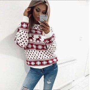 Womens Camisolas Sweater Mulheres feia do Natal Camisola longo fêmea da pulôver rena Ano Novo transporte da gota de Natal