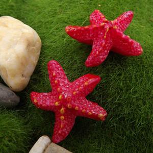 Vendita calda Starfish Mestiere della resina delle Miniature Fata decorazione del giardino Micro Paesaggi fai da te Bonsai Figurine terrario Ornament Acce
