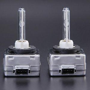 4300K 35W D1S voiture HID blanc chaud au xénon phares Ampoules lampe - noir + blanc (une paire)