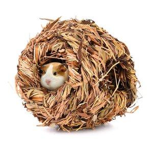 햄스터 케이지 작은 애완 동물 잔디 순 잔디 친칠라 햄스터 기니 돼지 재미 장난감 작은 동물 놀이터를 들어 손으로 직조