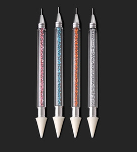 Nail a due punte penna del polacco arte che punteggia la Penne Drill Penna Nail Polish Strumenti di DIY Nail Art Pen punto di foratura KKA7785