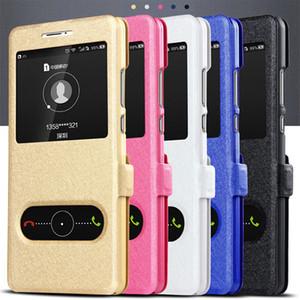 Ayaklı PU Deri Kılıf için Sony Xperia XA1 XA2 Ultra XZ3 XZ4 Z3 Z5 Mini Plus Compact L1 L2 L3 Görüntü Penceresi Kapak Telefonu Çanta Celular