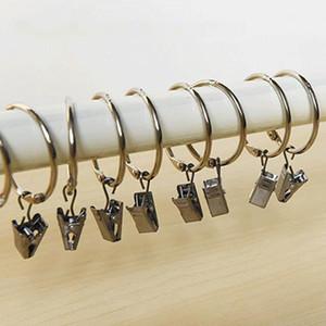 도금 커튼 링 클립 창 쉬운 글라이드 후크 커튼 막대 클립 욕실 커튼 링 클립 홈 커튼 액세서리 3cm DBC DH0906-1