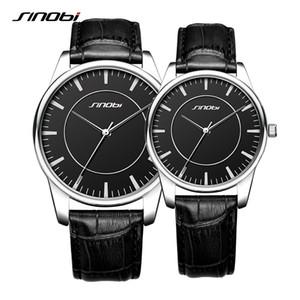 Sinobi любовника кварцевые часы черный пара часы из натуральной кожи ремешок мода мужчины и женщины часы День Святого Валентина подарок 2018