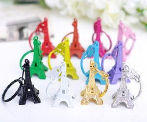 3D metal Eiffel kulesi anahtarlık anahtarlık Eiffel kule model Zamak renkli anahtarlık Eiffel kule model anahtarlık