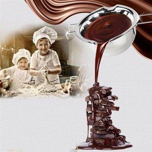 Inoxidável Velas Início Dcor Aço Longo Handle Wax Melting Pot DIY Vela Perfumada sabão Manteiga de chocolate Melting Pot Handmade Soap Chocolate T