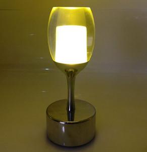 Lampada da bar a led carica piccola luce notturna tocco creativo ristorante caffè vino nostalgico bar lampada da tavolo LLFA