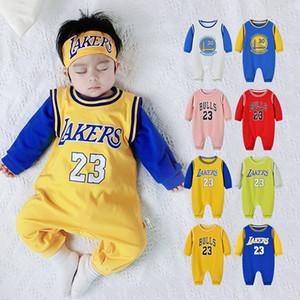 Estate dei bambini confortevole Basket Calcio delle tute pagliaccetti tuta del cotone puro dei ragazzi appena nati infantili del bambino vestiti del bambino delle tute