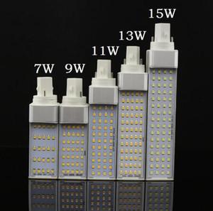 Bombillas LED E27 G24 G23 LED bulbo del maíz de la lámpara SMD 2835 Spotlight 180 grados AC85-265V Horizontal Plug Luz