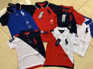 Garçons chemises À Manches Courtes Enfants POLO Chemise Pour Garçons col Tops T-Shirts De Mode Bébé Garçons filles chemises 2-6 ans Enfant Vêtements