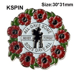 Poppy Flower Lapel Pin Flag Badge Lapel Pins Badges Broche XY0163