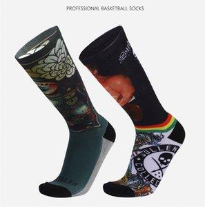 chaussettes nouvelles de basket-ball Designer pour les hommes épaissie chaussettes hautes mens de sport de luxe impression 3D vêtements pour hommes à long chaussettes de course pour les jeunes