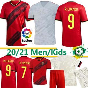 Tailandia Bélgica Lukaku PELIGRO KOMPANY De Bruyne MERTENS camiseta de fútbol 2019 Inicio hombre lejos de adultos y niños kit de la camisa deportiva de fútbol