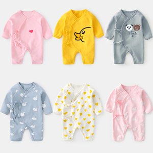 New Brand Clothing Newborn Toddler Kids Bottoming Climbing Suit Cotton Baby Boys Girls Long Sleeve Rompers One-piece Clothes