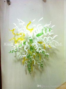 Soffiato Arte Moderna a mano della decorazione della parete di vetro Lampade fiore di vetro di Murano del riparo della parete decorativa LED Wall Art
