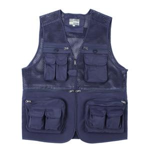 Déchargement veste tactique manteau photographe de mode Eté Homme Gilet travail maille Veste sans manches d'outils Beaucoup Vest Pocket Homme