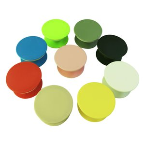 colour Blank Round mobile phone folding stretch airbag bracket Phone Holder With Retail Package