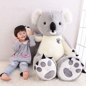 Dorimytrader Büyük Peluş Hayvan Koala Oyuncak Büyük Doldurulmuş Karikatür Koalas Bebek Anime Yastık Çocuklar için Güzel Hediyeler 120 cm 140 cm DY61665