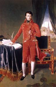 Napoleão alta qualidade pintado à mão HD óleo impressão impressionista da arte do retrato Pintura de parede Art Home Decor na lona multi Tamanhos 003