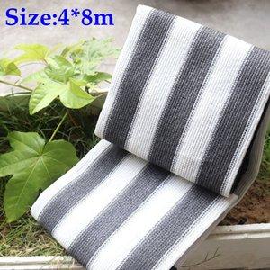 4x8m blanco gris de la cortina de Sun Sails sombreado Nets Inicio Patio del tejado del refugio Sun Anti-UV 7 años Vida útil Sin Olor