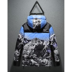 Men Designer Down Jackets 2019 Fashion Snow Nountain Down Coat Luxury Casual Mens Outdoor Loose Hooded Coat Asian Size L-3XL Wholesale