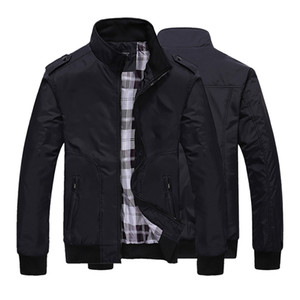 Mens Spring Winter Jackets Coat 2019 plus size Men Sportswear Motorcycle Mens Stand Collar Slim Bomber Jackets Brand Clothing