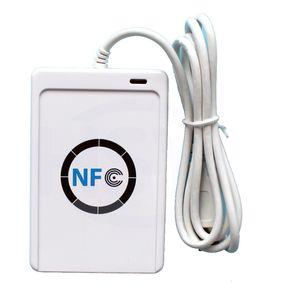 NFC (ISO / IEC18092) Etiketler Tüm 4 türlerinde PC için ACR122U nfc A9 Okuyucu Yazıcı USB Akıllı Kart Okuyucu 13.56MHz ISO14443A nfc okuyucu