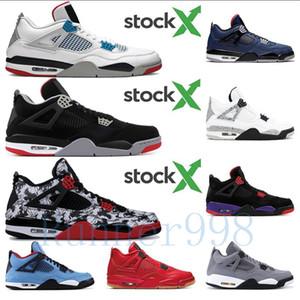 Con la SCATOLA 2020 Nuovo tatuaggio 4 Jack Travis Scotts X Mens scarpe da basket 4s Houston Oiler White Cement Raptors a buon mercato Royalty Retro Sneakers