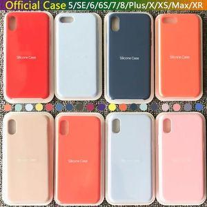Lüks Orijinal Resmi Cep Telefonu Kılıf Katı Renk Kapak LOGO Silikon Geri Kılıf İçin Apple iPhone XS MAX 7 8plus XR 6S