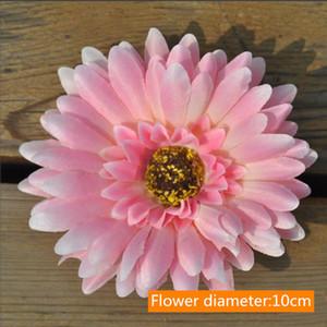50PCS Lot 10CM Gerbera Silk Flower Sunflower Tulip wreath pectoral flower clothing hat shoes Christmas Decorative materials