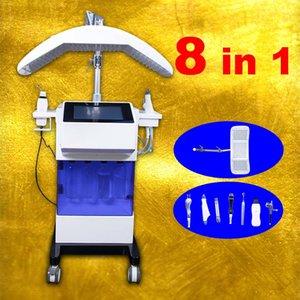 8 IN 1 الدائمة اللوازم الطبية هيدرا الوجه آلة جلدي الأوكسجين العناية بالوجه الموجات فوق الصوتية RF الجلد الغسيل