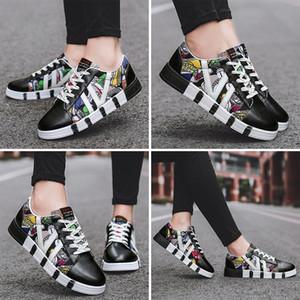 Çin boyutunda 35-44 Made in Moda Yeni kadın erkek Siyah Beyaz Deri Kanvas Casual ayakkabılar Platformu tasarımcı spor ayakkabısı Ev yapımı marka