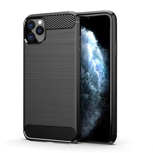 Para Apple iPhone 11 Pro Max / iphone XS Max XR Caso Fiber Gel carbono TPU Pele Suave Voltar Silicon tampa do telefone