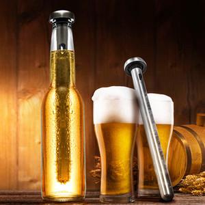 Refrigeratore del liquore del vino dell'acciaio inossidabile 2 pezzi che raffreddano la birra del versatore della birra in-bottiglia del bastoncino rapido semplice