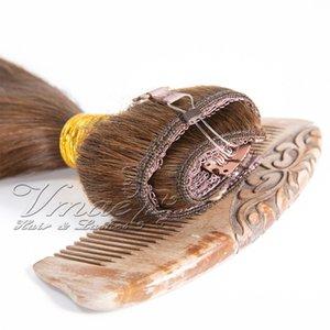 VMAE هالة الوجه في الشعر الإنسان الهندي مستقيم براون شقراء 100G 12-26 بوصة هالو ريمي الشعر العذراء الإنسان