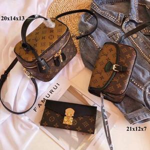 높은 품질의 럭셔리 클러치 여성 크로스 바디 메신저 패션 빈티지 가죽 핸드백 어깨 가방 - 1423
