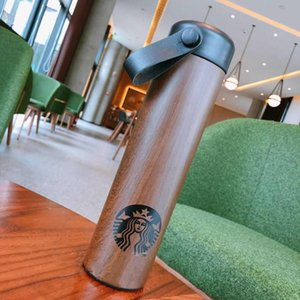 dooor spor kahve fincanı Tumbler 473ml dışarı Paslanmaz Çelik Vakum fincan Borwn halat Denizkızı logosunu taşıyan Starbucks Ağaç Damarı