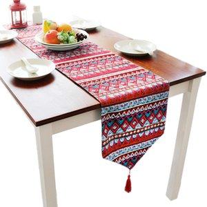 30x180 cm Geométrico Europeo Impreso Table Runner Bohemia cubierta de tabla para el banquete de boda suministro textil para el hogar TV TV gabinete toalla