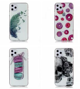 Blumen-Karikatur weicher TPU Fall für neues iPhone 11 PRO MAX Samsung Galaxy NOTE 10 A20E A60 A90 Feder Bärnschädel Donut Traumfänger-Haut-Abdeckung