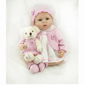 55cm Soft Silicone Newborn Bebê Reborn Boneca Bebês Dolls 22inch LifeLike Real Bebe Boneca Para Crianças Aniversário Xmas Presente