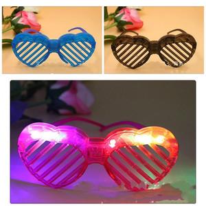 Natal Luminescent Popular Óculos Persianas Designs esvaziamento partido plástico Óculos com luzes LED Crianças Eyewear Para Mostrar Partido De