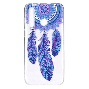 Transparent Soft TPU For Huawei Nova 4 Case Cover Colour decoration Tower bike Butterfly Girl Design Mobile Phone Cases